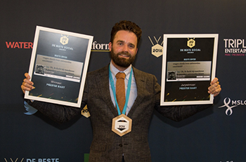 Meester Bart winnaar social Media awards