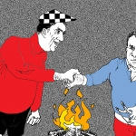 Columnisten Rob Hoogland en Arthur van Amerongen