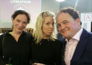 sarah crossan met Jowi Schacmitz en Eppo van Nispen tot Sevenaar